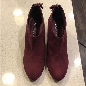 Burgundy Ankle Booties